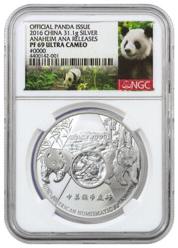 Anaheim ANA Show 2016 China 1 oz. Silver Official Panda Issue NGC PF69 SKU42640