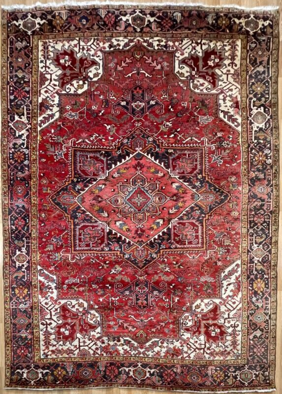 Terrific Tribal - 1940s Antique Oriental Rug - Nomadic Carpet - 8.4 X 11 Ft
