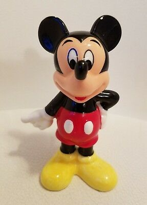 Vintage MICKEY MOUSE Porcelain Figurine Figure 1970s - DISNEY