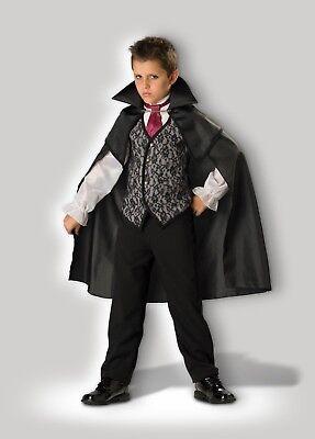 Mitternacht Vampir Kostüm (Incharacter Mitternachts Vampir Umhang Horror Kind Jungen Halloween Kostüm)