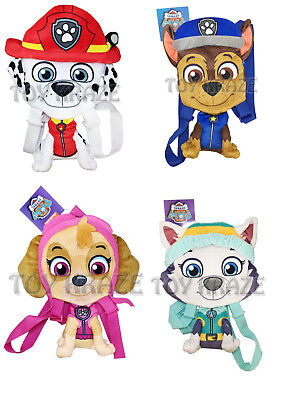 PAW PATROL FLAT PLUSH BACKPACK SET! SMALL DOGS COSTUME DOLL BAG 12