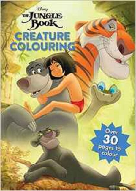 Disney the Jungle Book Creature Colouring Book - (Paperback, 2016) - New