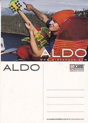 ALDO SHOES UNUSED ADVERTISING COLOUR  POSTCARD (c)