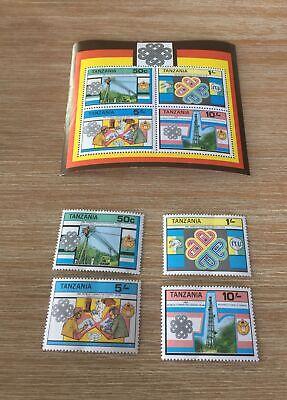 Tanzania 1983 World Communication Year Mnh Mini Sheet And Set