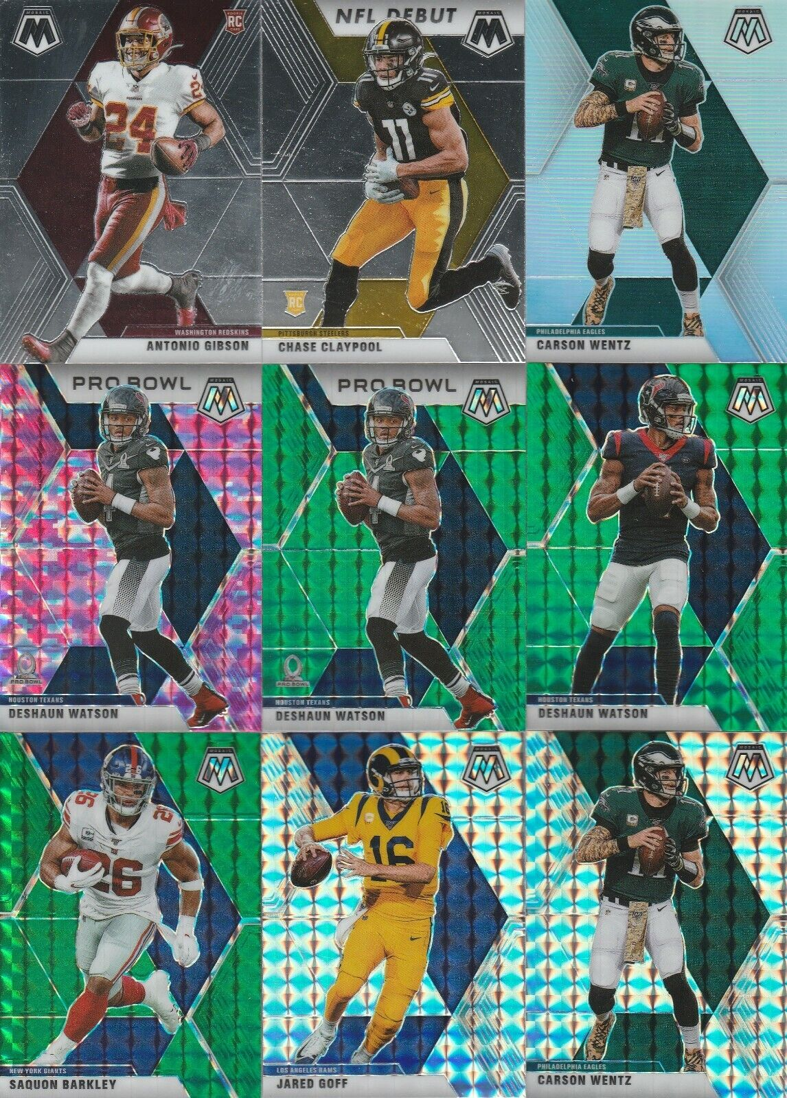 2020 Mosaic Football Card Lot Of 60 Cards - $25.00