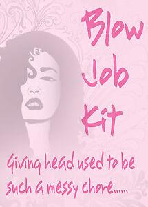 Blow Job Kit ~ Adult Novelty Gift ~ Secret Santa / Hen Night / Rude Joke Gift
