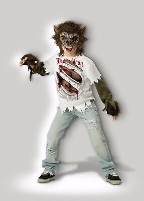 Creepy Child Costume (Incharacter Werewolf Moon Monster Creepy Child Boys Halloween Costume)