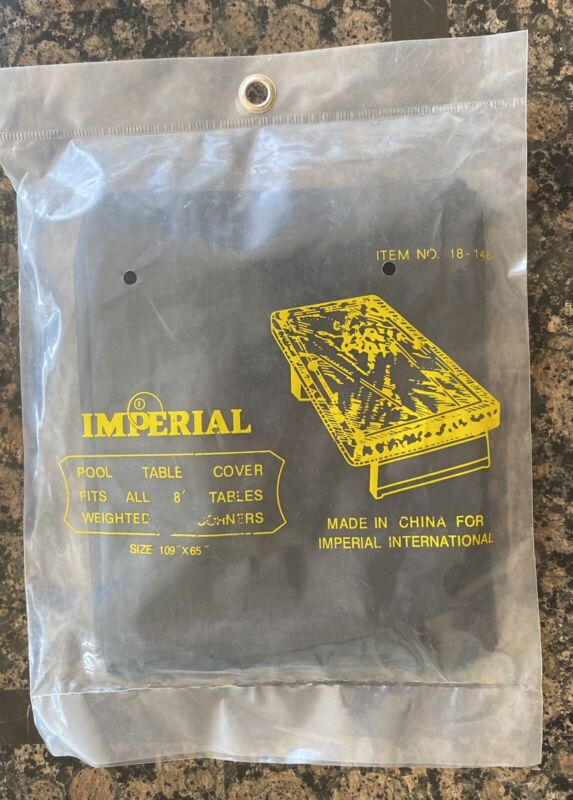 Imperial Pool Table Cover 8 Foot Black Vinyl Billiards w/ FREE Shipping