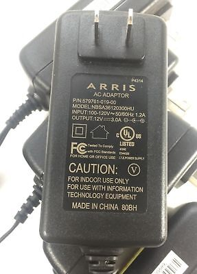 ARRIS AC Adapter for MB8600, MG7550 Cable Modem Wifi Power Supply 12V UL Listed