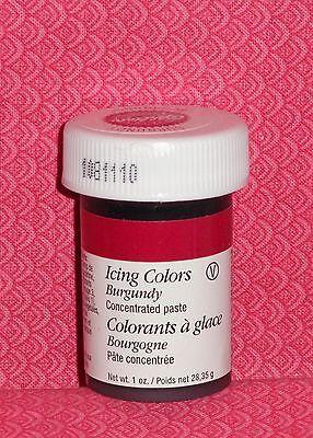 Burgandy 1 oz.Jar Gel Color,Wilton, 610-698.Food Coloring,Icing Color Paste - Gel Icing Color