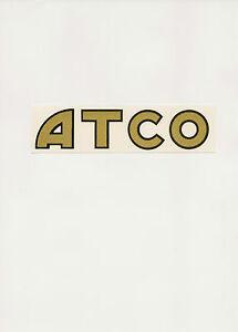 ATCO Vintage Mower Repro Decals
