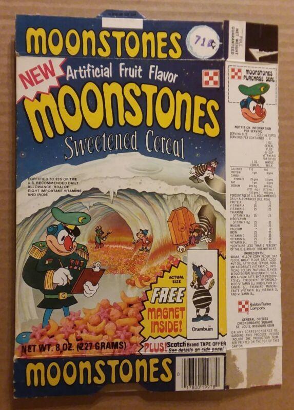 Ralston Moonstones magnet box 1976 Freakies sister cereal vintage original BIN