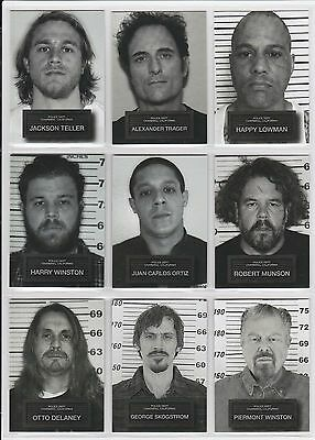 2015 Sons Of Anarchy Seasons 6   7 Complete  9  Card Mug Shot Set