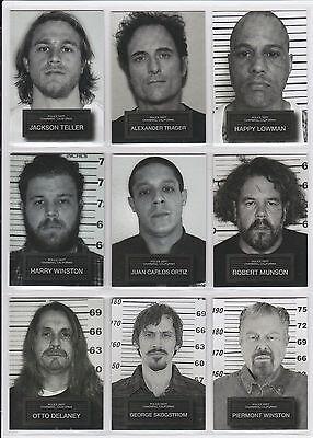 2015 Sons Of Anarchy Seasons 6   7 Complete  9  Card Mug Shot Set