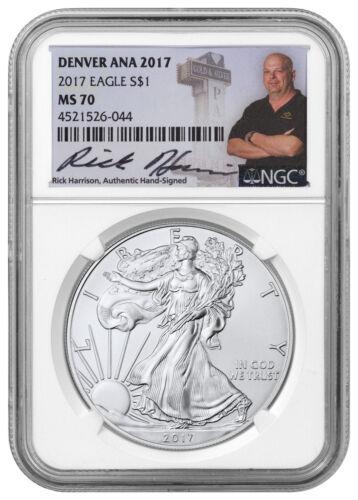 2017 American Silver Eagle Denver ANA 2017 NGC MS70 Excl Rick Harrison SKU48656