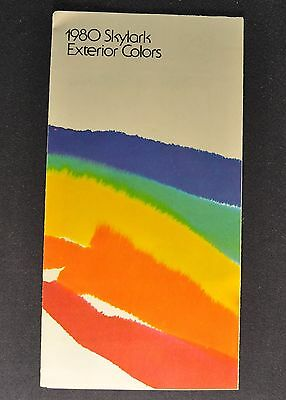 1980 Buick Skylark Paint Colors Brochure Folder Excellent Original 80