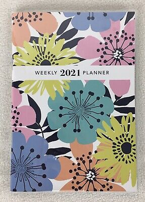 2021 Floral Weekly Purse Brief Case Planner Calendar Organizer Agenda 5x7.5