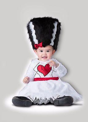 Deluxe Mini Monster Bride of Frankenstein Child Girls Toddler Baby Costume NEW](Frankenstein Baby Costume)