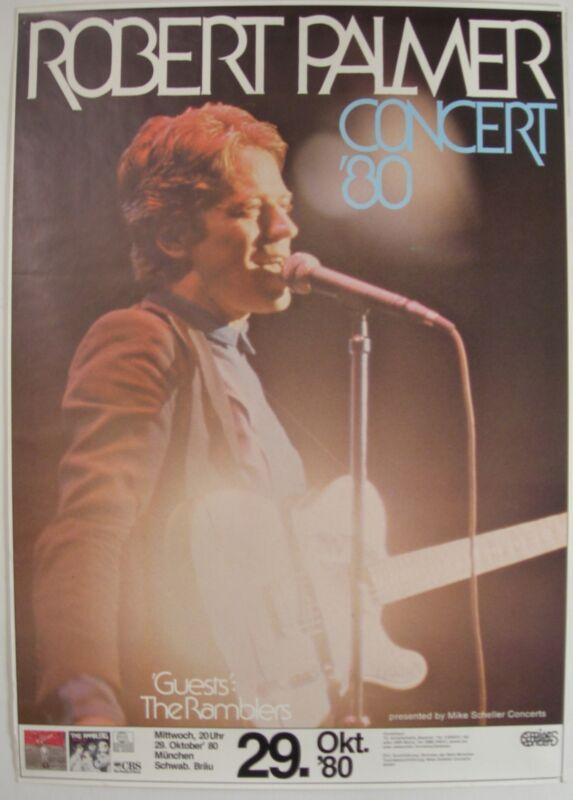 ROBERT PALMER CONCERT TOUR POSTER 1980 CLUES
