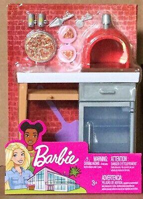 Barbie Outdoor Furniture Set Brick Pizza Oven NEW