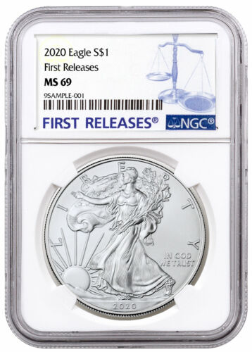 2020 1 oz American Silver Eagle $1 Coin NGC MS69 FR SKU59449