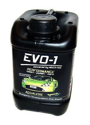 2,5 L EVO-1 AQUALESS waschen o. Wasser Politur Versiegelung Nano Carnaubawachs