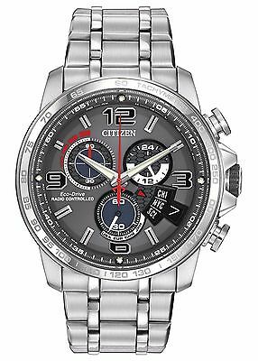 $174.99 - Citizen Eco-Drive A-T Men's BY0100-51H  Refurbished Chronograph Alarm 44mm Watch