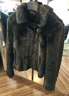 Ilse Jacobsen Beautiful Brown Faux Fur Women's Jacket Coat - Size Small / UK 10