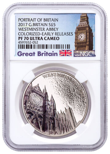 2017 Britain Portrait Westminster Abbey Silver Colorized NGC PF70 UC ER SKU49258