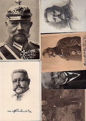 98307 6 AK Reichspräsident Hindenburg 1915 1925 1918 Ritterkreuz