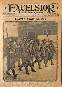 Prisoner Officers Deutsches Heer croix de fer Eisernes Kreuz Iron Cross WWI 1915