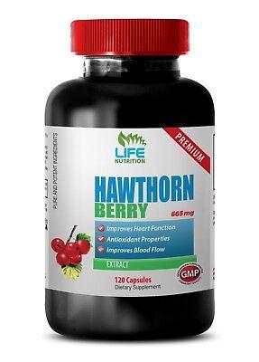 hawthorn berry powder, Hawthorn Berry Extract 665mg, blood pressure vitamins 1B