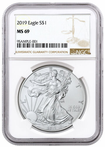 2019 1 oz Silver American Eagle $1 NGC MS69 Brown Label SKU55752