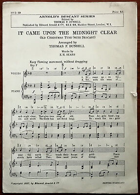It Came Upon The Midnight Clear, Old Christmas Tune –  Pub. 1927
