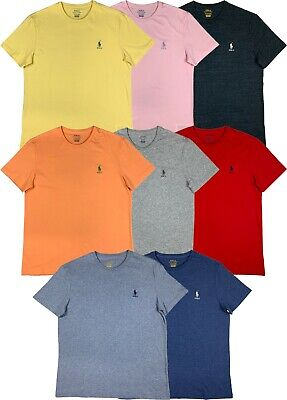 Ralph Lauren Polo Classic Short Sleeve Pony Logo Crew Neck Shirt Multi Color New