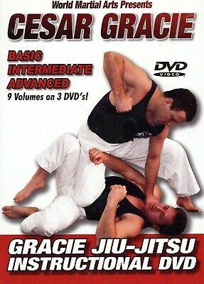 Cesar Gracie 3 DVD Instructional Training Set Brazilian Jiu Jitsu BJJ MMA B430