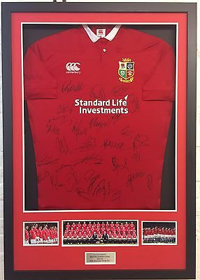 British & Irish Lions Rugby Jersey Signed & FRAMED By 2017 Squad Proof AFTAL COA