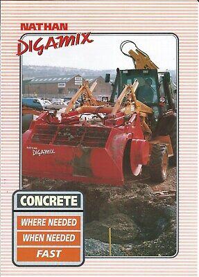 Equipment Brochure - Nathan - Digamix Concrete Mixer For Backhoe Loader E5946