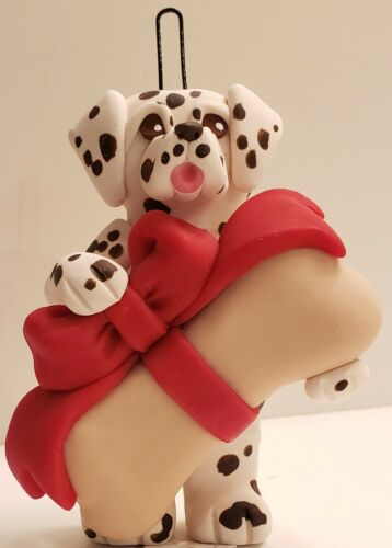 Dalmatian with Liver Spots & Bone Christmas Ornament