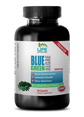 60 Caps Supplement Pills - Anti-Aging Supplements - Klamath Blue Green Algae  500mg Pills 1 Bottle 60 Caps