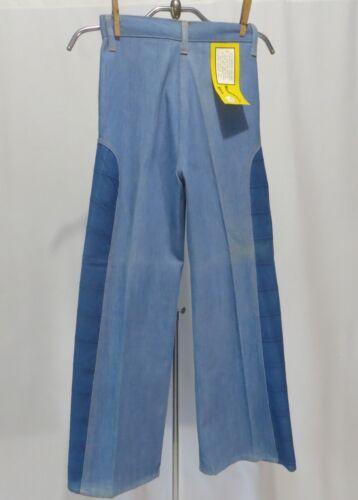 Vintage 70s denim Jeans Pants Dead Stock NWT Girls 10 High Waist Mod 2 Tone