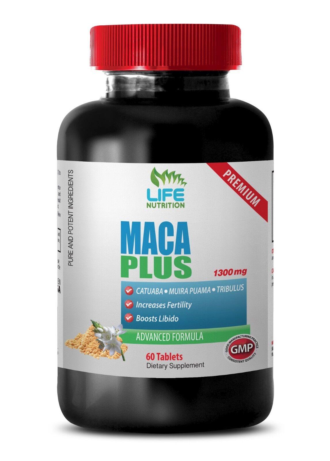 Increase sex drive - MACA PLUS 1300MG 1 Bottle - heart-leaf