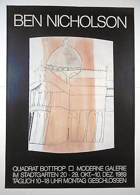 Ausstellungsplakat Ben Nicholson Quadrat Bottrop 1989