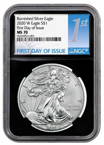 2020 W 1 oz Burnished American Silver Eagle $1 Coin NGC MS70 FDI BC PRESALE