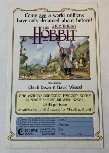 1989 Eclipse Comics ad page ~ J.R.R. Tolkien THE HOBBIT ~ JRR TOLKIEN