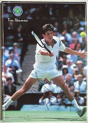 Tim Henman   Davis Cup Player   Original Signed Tennis Postcard