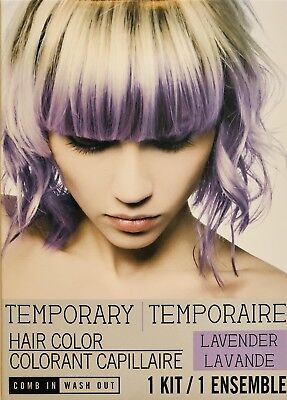 Temporary Hair Color LAVENDER Purple Comb In / Wash Out Kit Halloween Dye 1 Use - Halloween Hair Dye