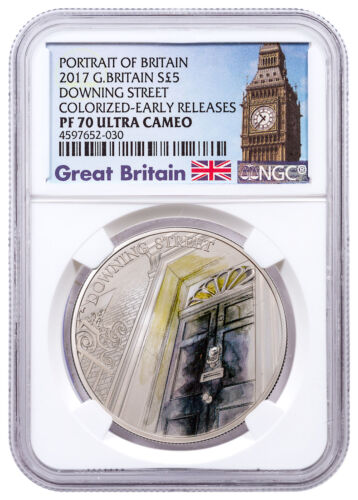 2017 G Britain Portrait Downing Street Silver Colorized NGC PF70 UC ER SKU49260