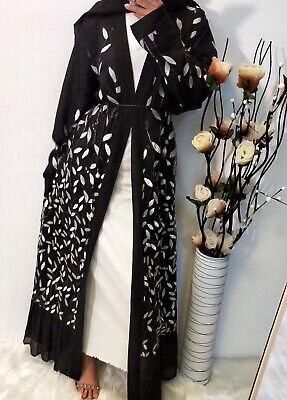 Dubai Style Kimono Embellished |Sequin Abaya | Sz L (56), XL (58), XXL (60)