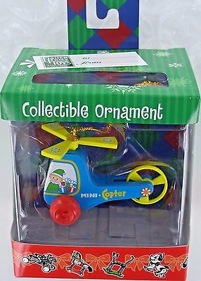 Fisher Price Christmas Ornament Helicopter Mini Copter Chopper F P Nib Retired